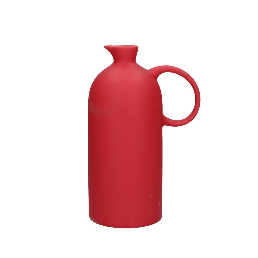 Vaso rosso con manico Bellopastello