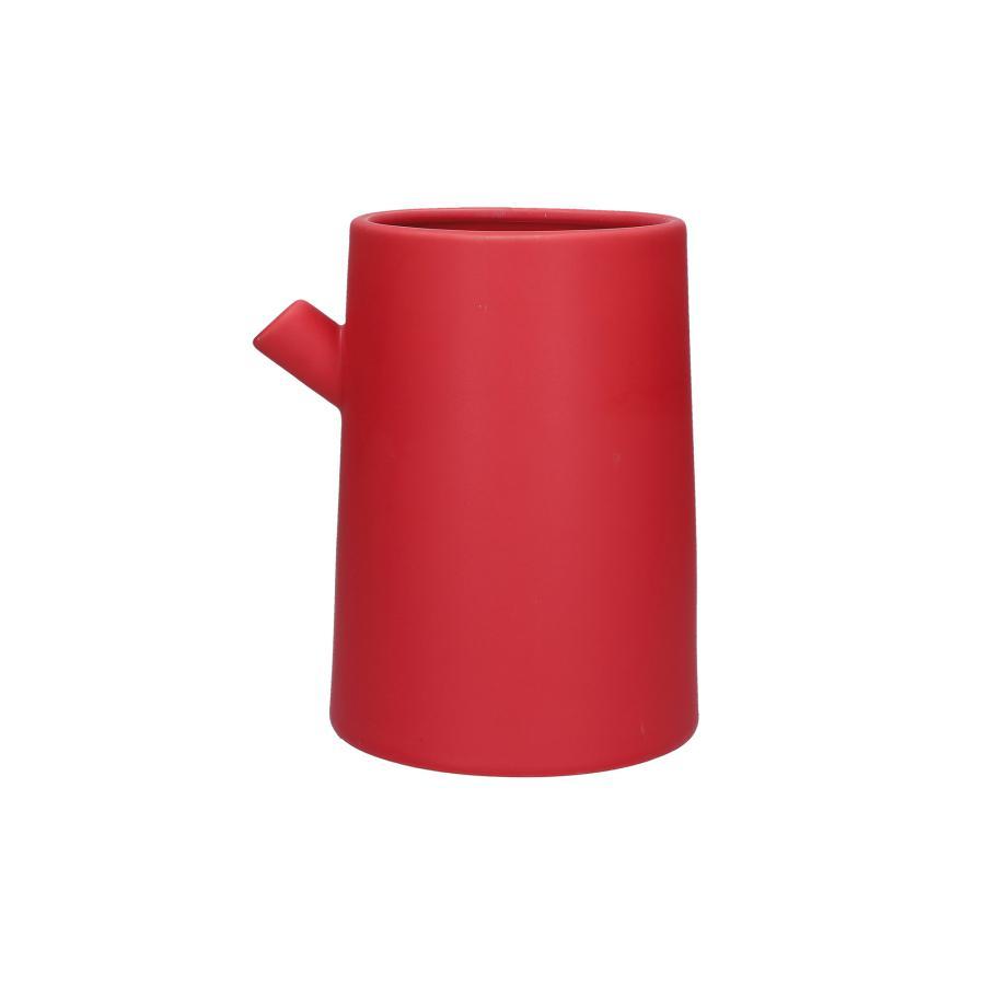 Vaso rosso con beccuccio Bellopastello