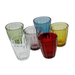 Servizio 6 bicchieri acqua colori mix