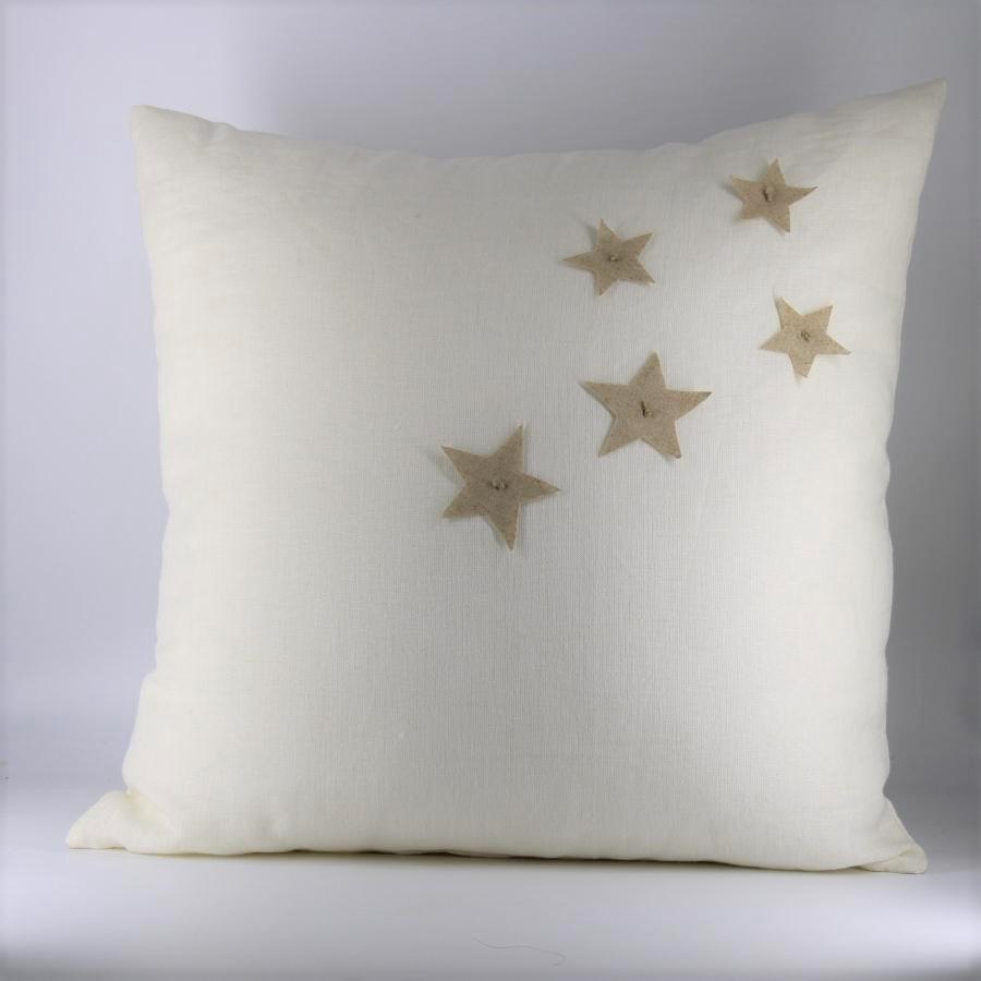Cuscino Stelle bianco