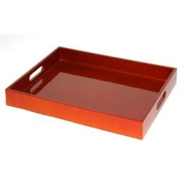 Vassoio laccato arancio