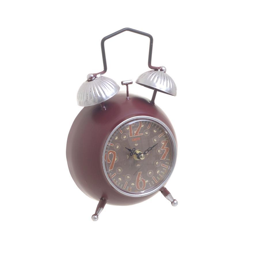 Orologio da tavolo rosso vintage