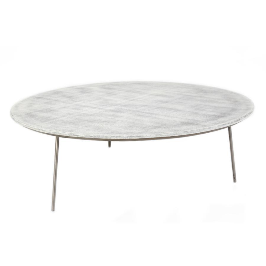 Coffe table in alluminio