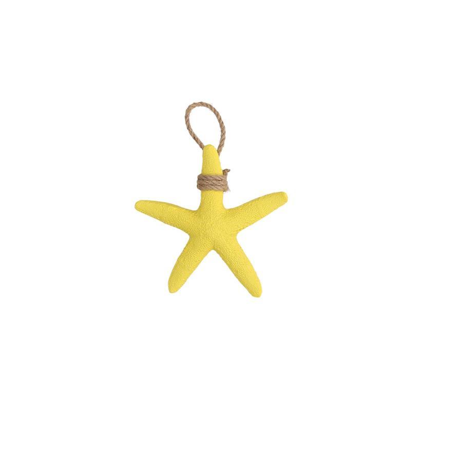 Decorazione stella marina gialla