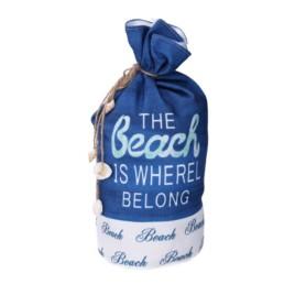 Fermaporta in tessuto Beach Blu