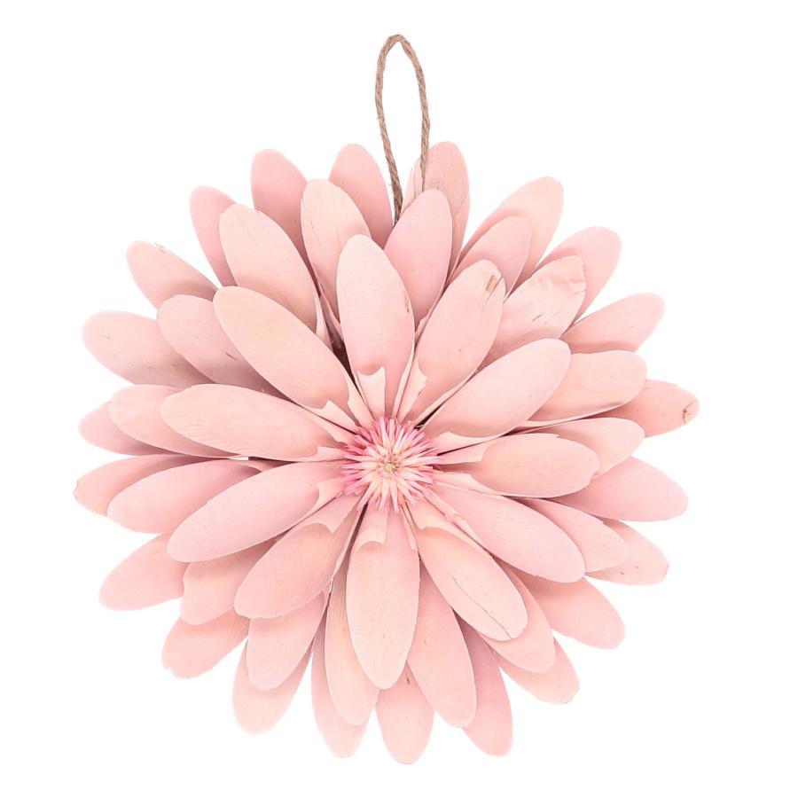 Fiore in legno rosa