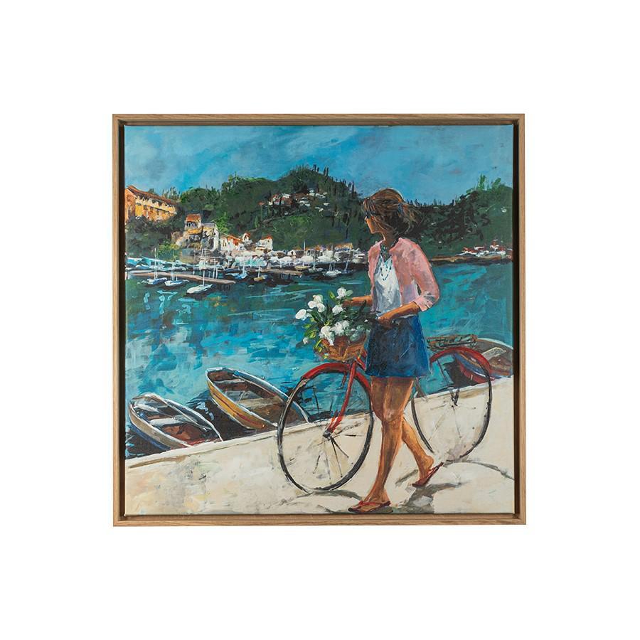 Donna con la bici
