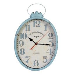 Orologio da parete vintage colore celeste