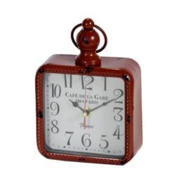 Orologio da appoggio vintage rosso