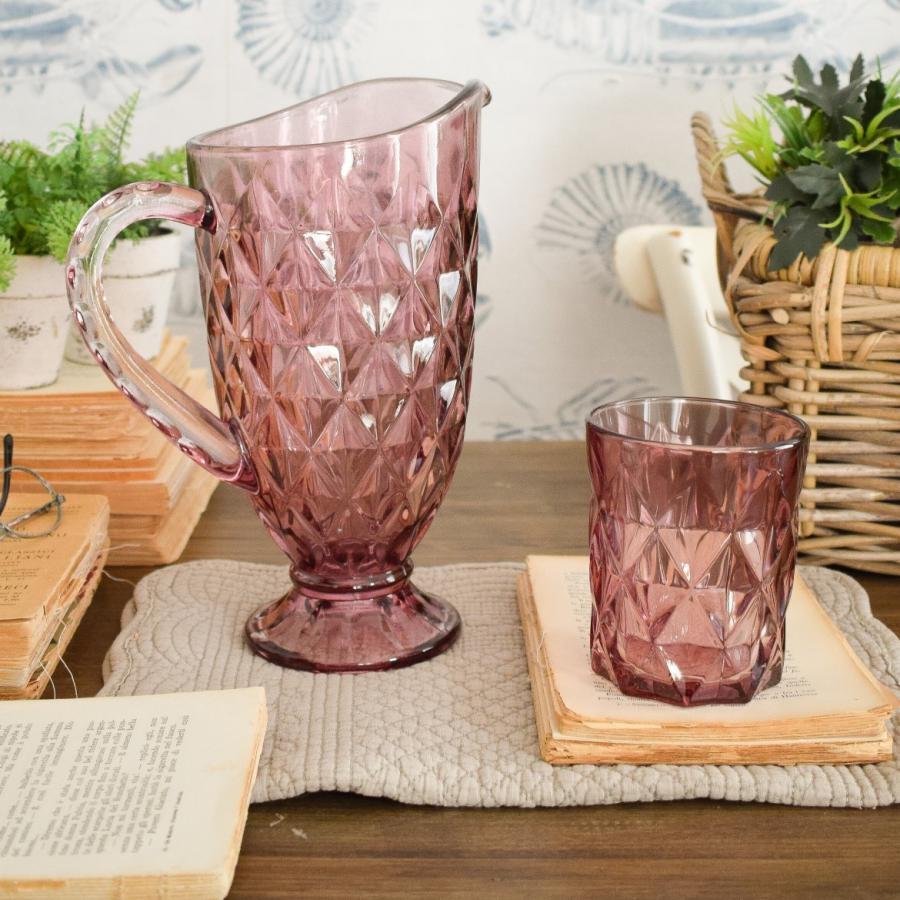 Set di 6 bicchieri completi di caraffa Pink