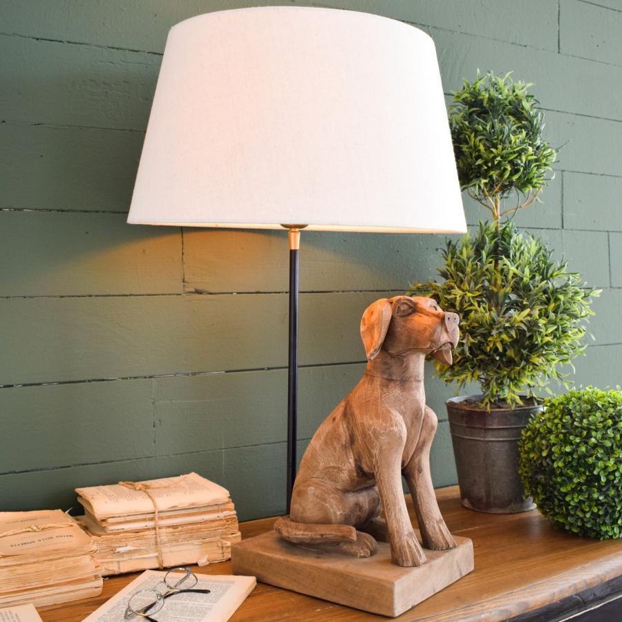 Lampada dog in legno