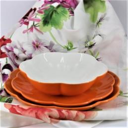 Villadeifiori Servizio 18 pezzi colore arancio