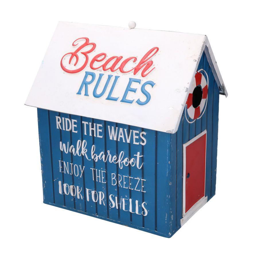 Casetta contenitore in alluminio Beach Rules