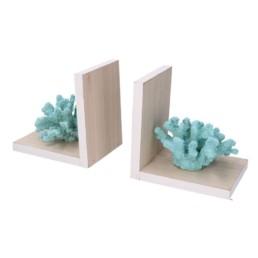 Coppia di reggilibri Corallo azzurro