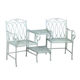 Panchina due posti con tavolo in ferro Ragusa