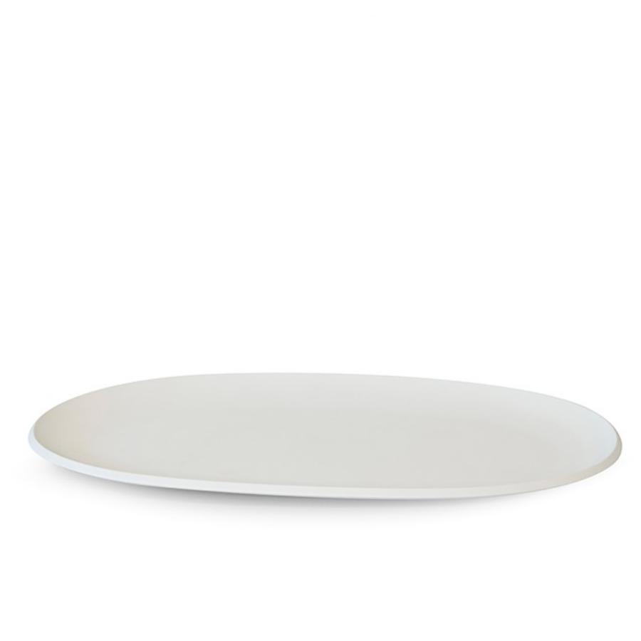 Pangea piatto portata ovale colore bianco