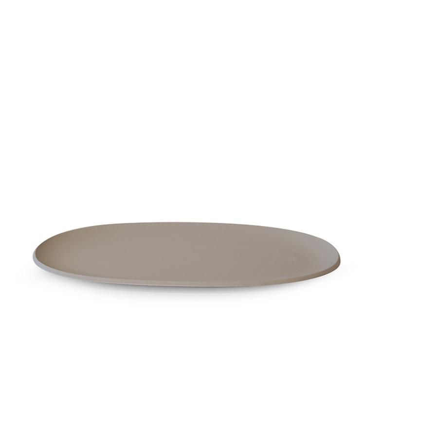Pangea piatto portata ovale tortora