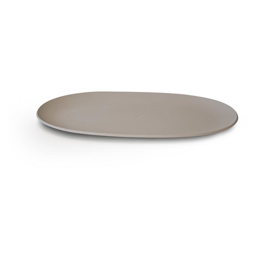 Pangea piatto da portata ovale colore tortora