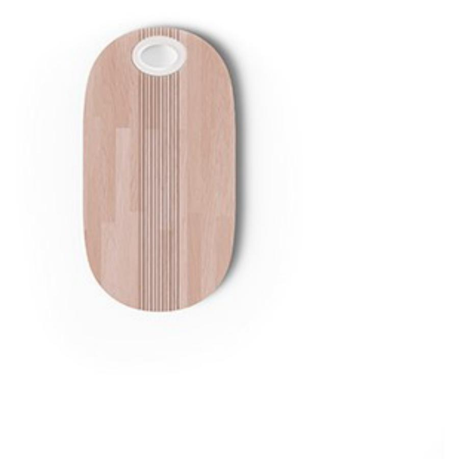 Pangea - Tagliere in legno con pomello bianco
