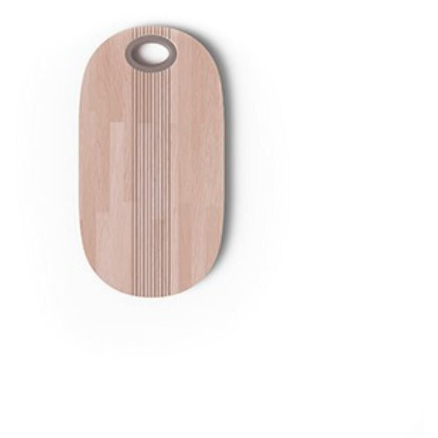 Pangea - Tagliere in legno con pomello tortora