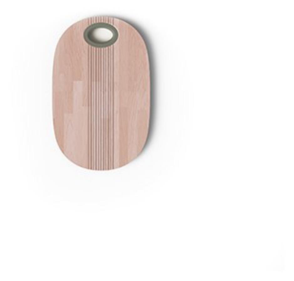 """Pangea """"Tagliere in legno con pomello verde salvia"""