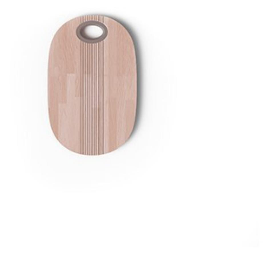 """Pangea """"Tagliere in legno con pomello tortora"""