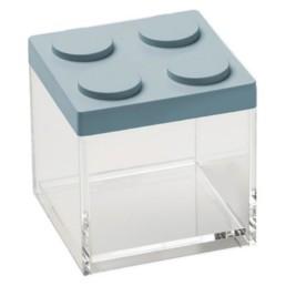 Contenitore in stile lego Brick Store 10x10x10,5 colore azzurro polvere