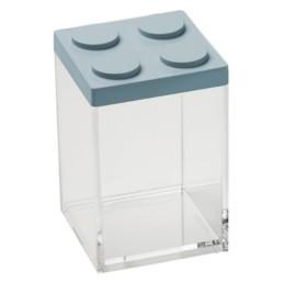 Brick Store contenitore in stile lego colore azzurro polvere