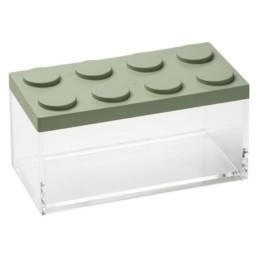 Brick Store contenitore in stile lego colore verde salvia