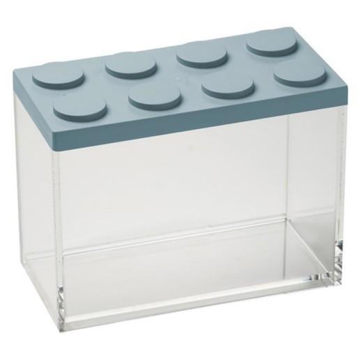 Brick Store contenitore in stile lego azzurro polvere