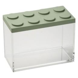 Brick Store contenitore in stile lego verde salvia