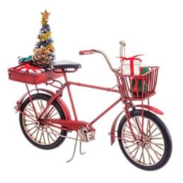 Bicicletta natalizia in metallo
