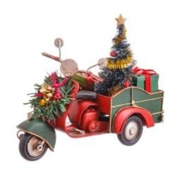 Motocicletta in metallo natalizia