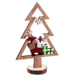 Albero natalizio su tronco