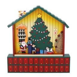 Calendario dell'avvento casa di Babbo Natale