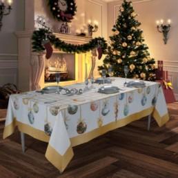 Tovaglia natalizia Decori